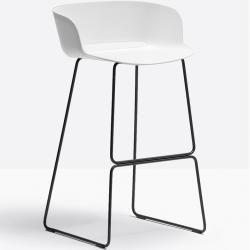Photo of Pedrali Babila 2748 bar stool chrome gray PedraliPedrali