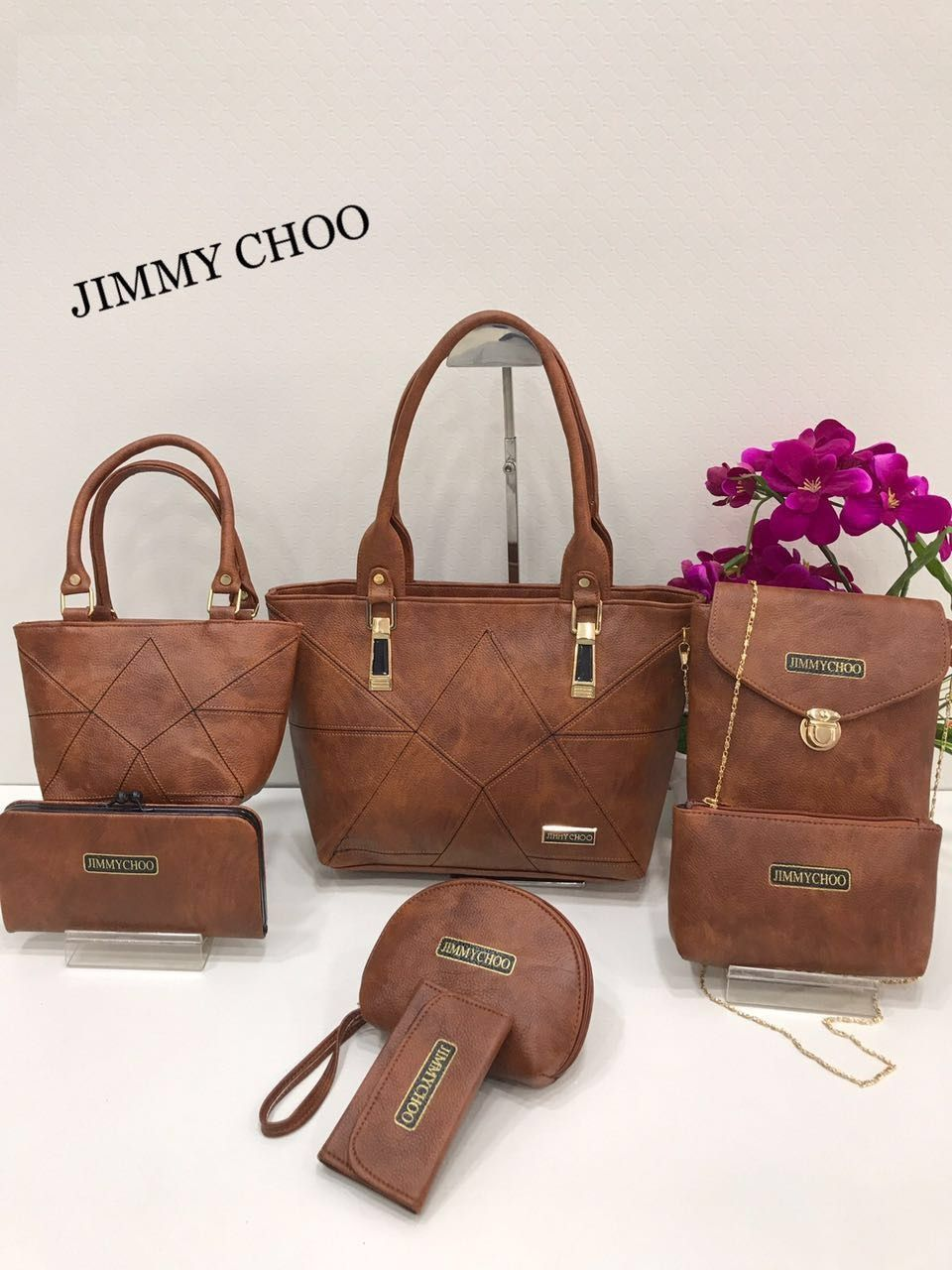 eb86afb232 JIMMY CHOO Ladies Purse Combo AVAILABLE COLORS Jimmy Choo Combo Set of 7  Size 14x10(
