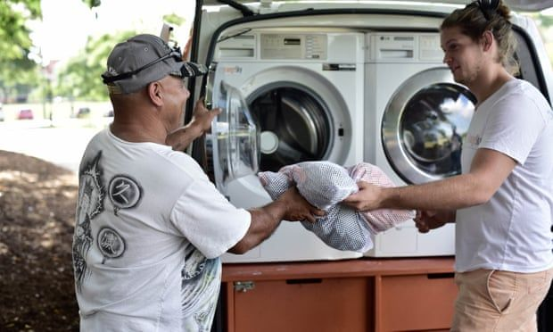 Cleaning Up Mobile Laundry For The Homeless Goes International
