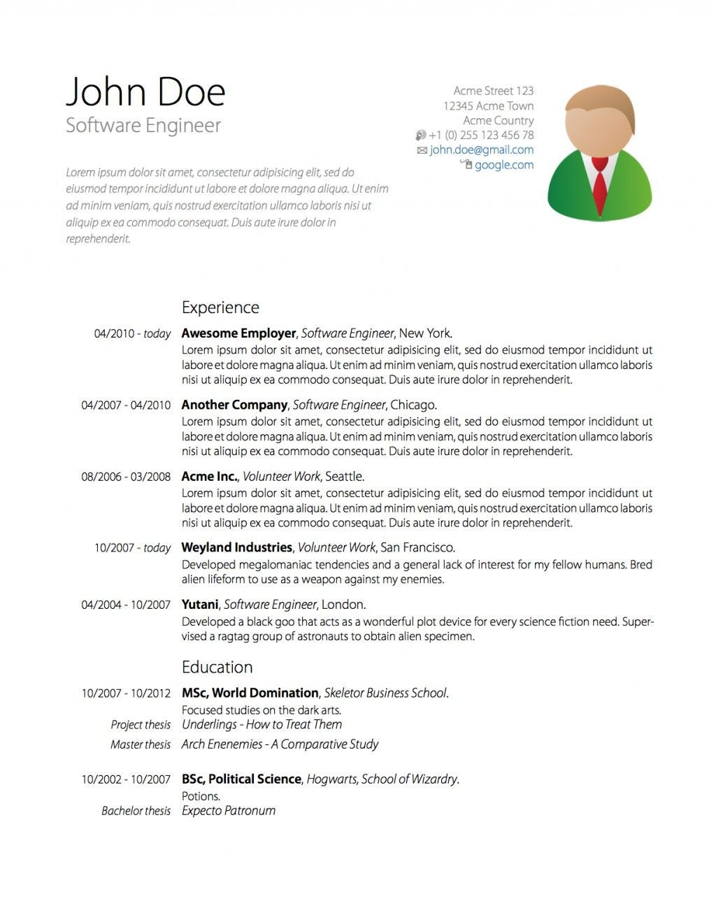 Overleaf Resume templates, Good resume examples, Resume