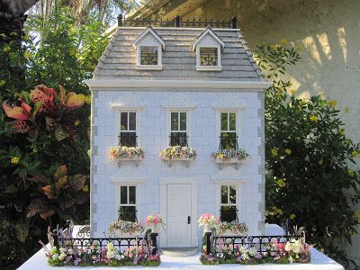 "French Theme Dollhouse ""Maison de Poupee"" - Click photo for blog on this beautiful creation."