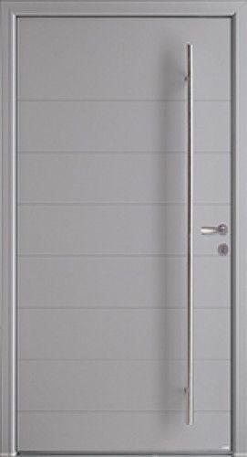 Modèle Phosphore Mixte à lames Porte du0027entrée mixte alu   bois - dimensions porte d entree