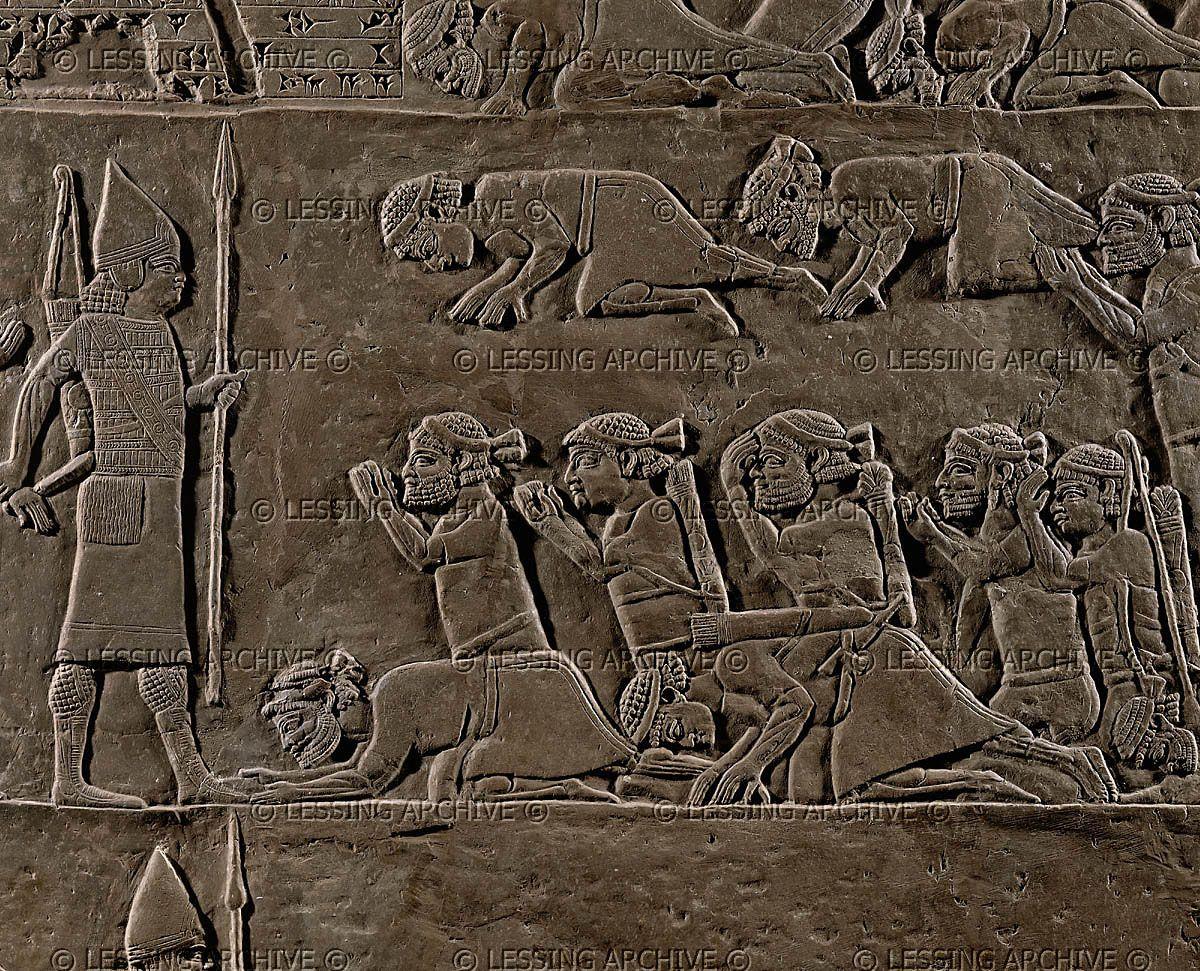 Assur relief th bce assyrian officer presents a new