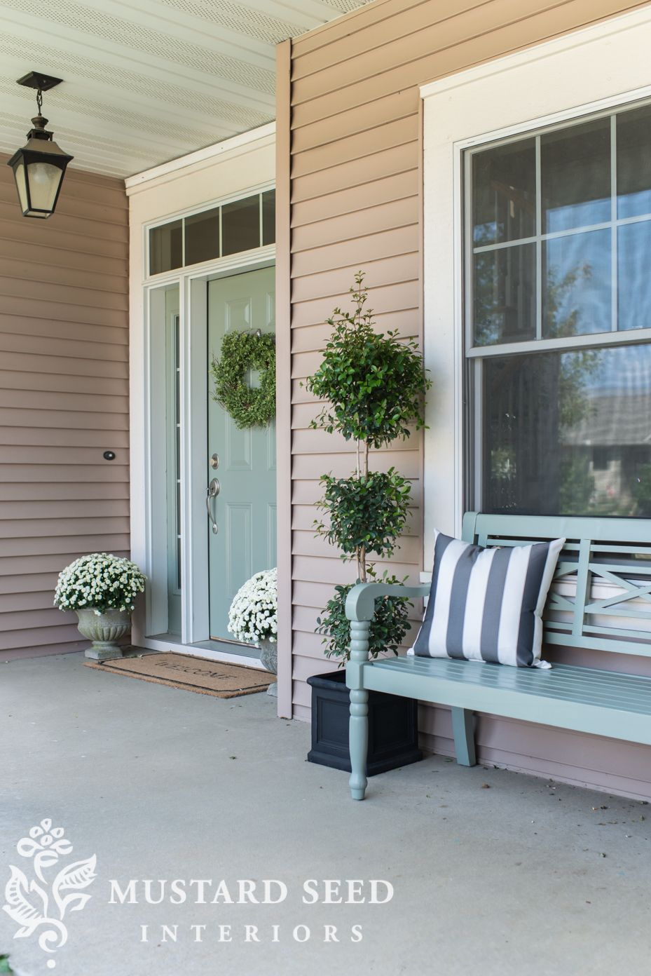 painted porch bench - Miss Mustard Seed