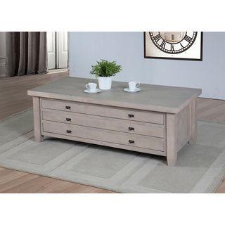 navigator dove grey coffee table | deposito extra, shopping e cassetti