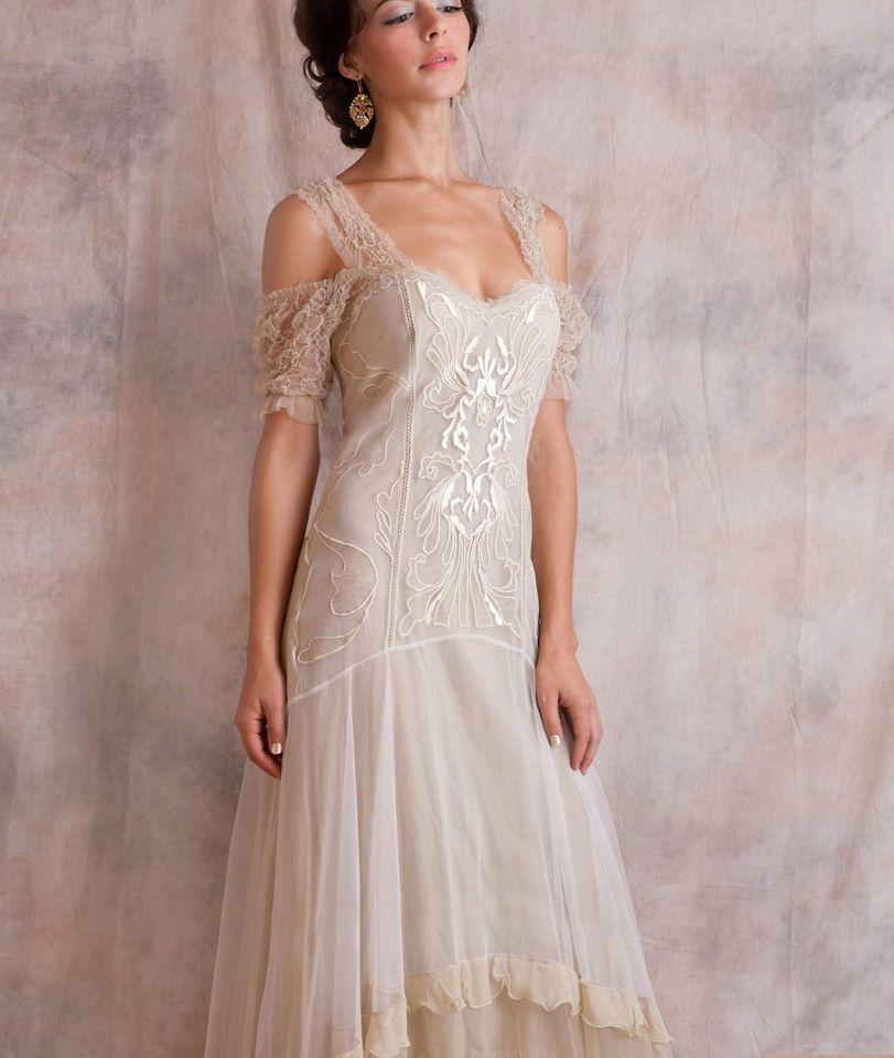 Elegant Wedding Gowns For Second Marriage: Nataya Venetian Cream Wedding Dress 40153