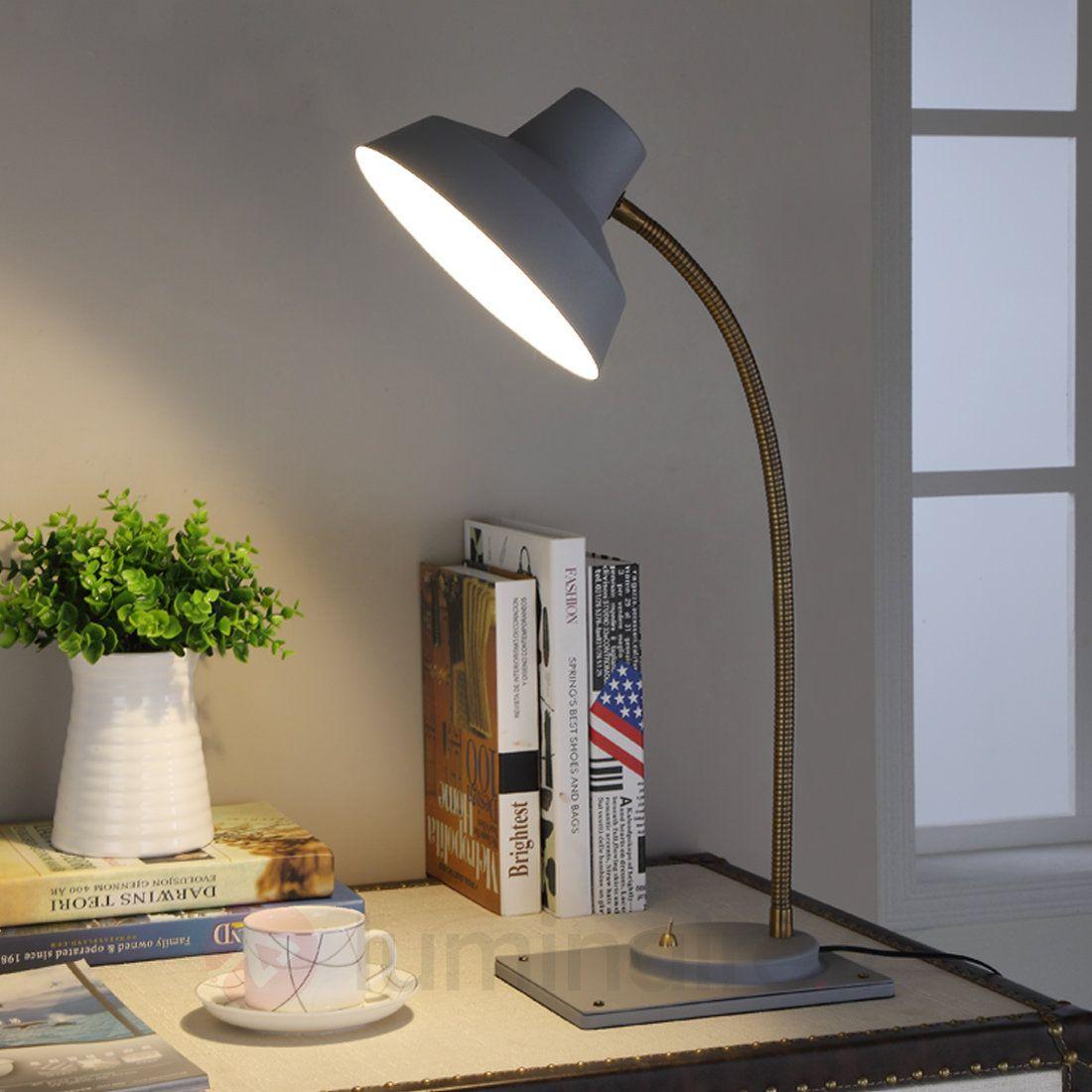 Lampe De Bureau Blanche Work Station Avec Bois Lampe De Bureau Lampes De Table Et Lumiere De Lampe