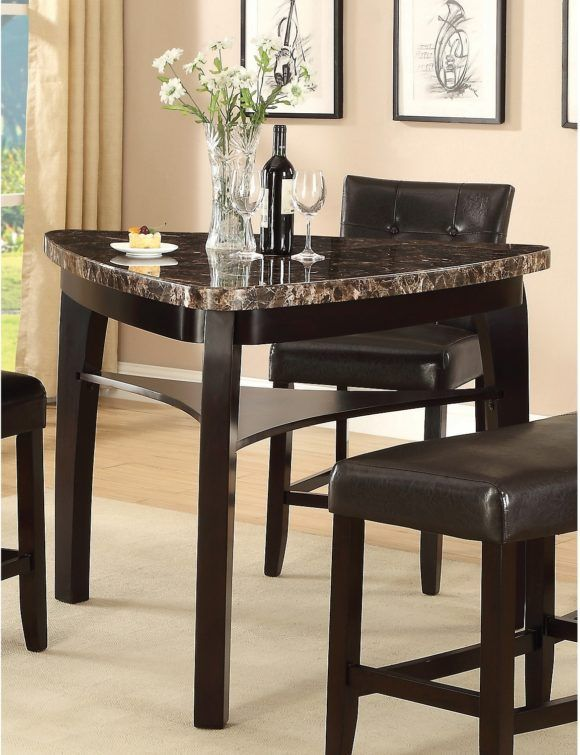 Furniture Contemporary Triangular Dining Room Table With Clear