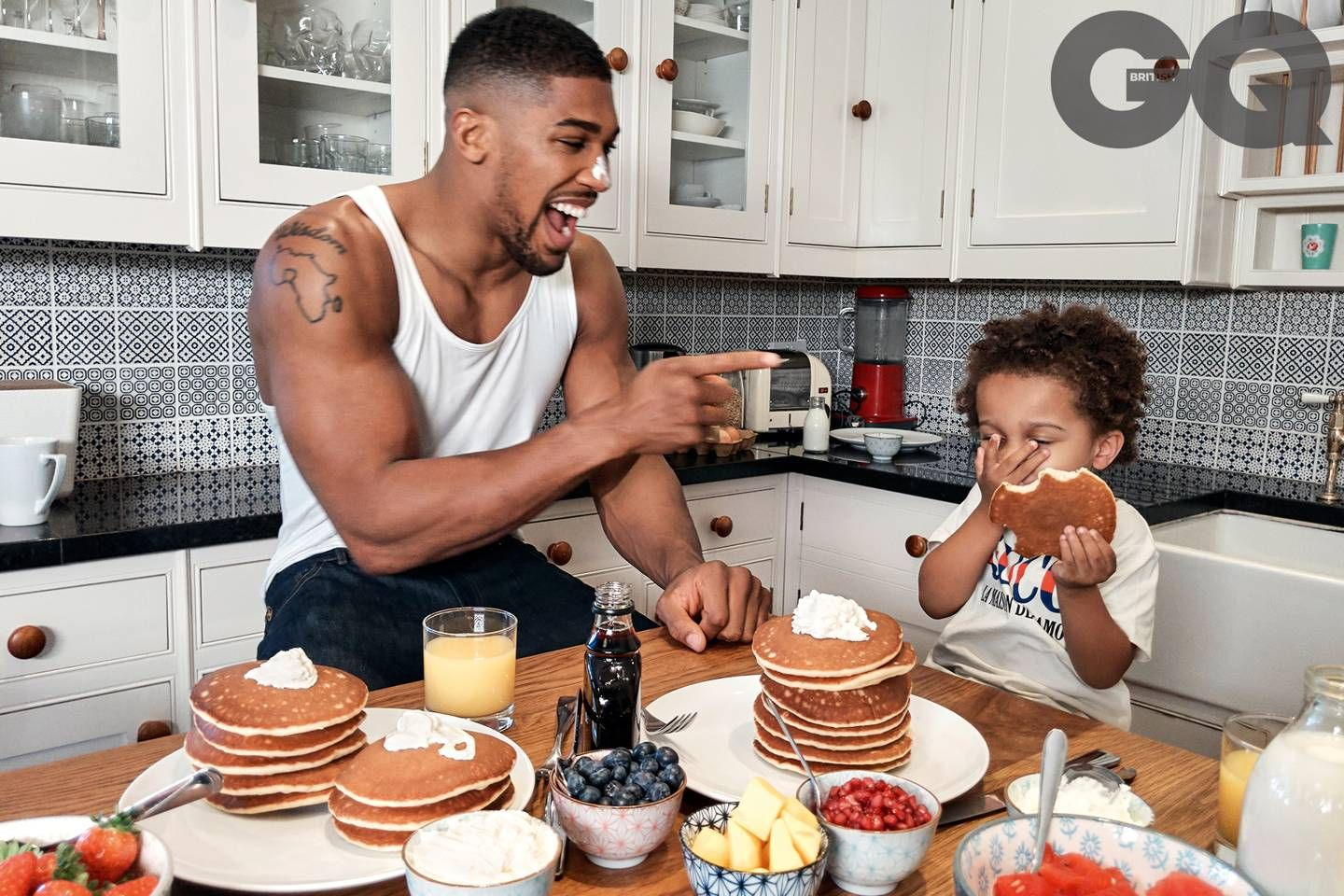 Anthony Joshua and Son JJ Stun On Cover Of GQ Magazine (Photos ...