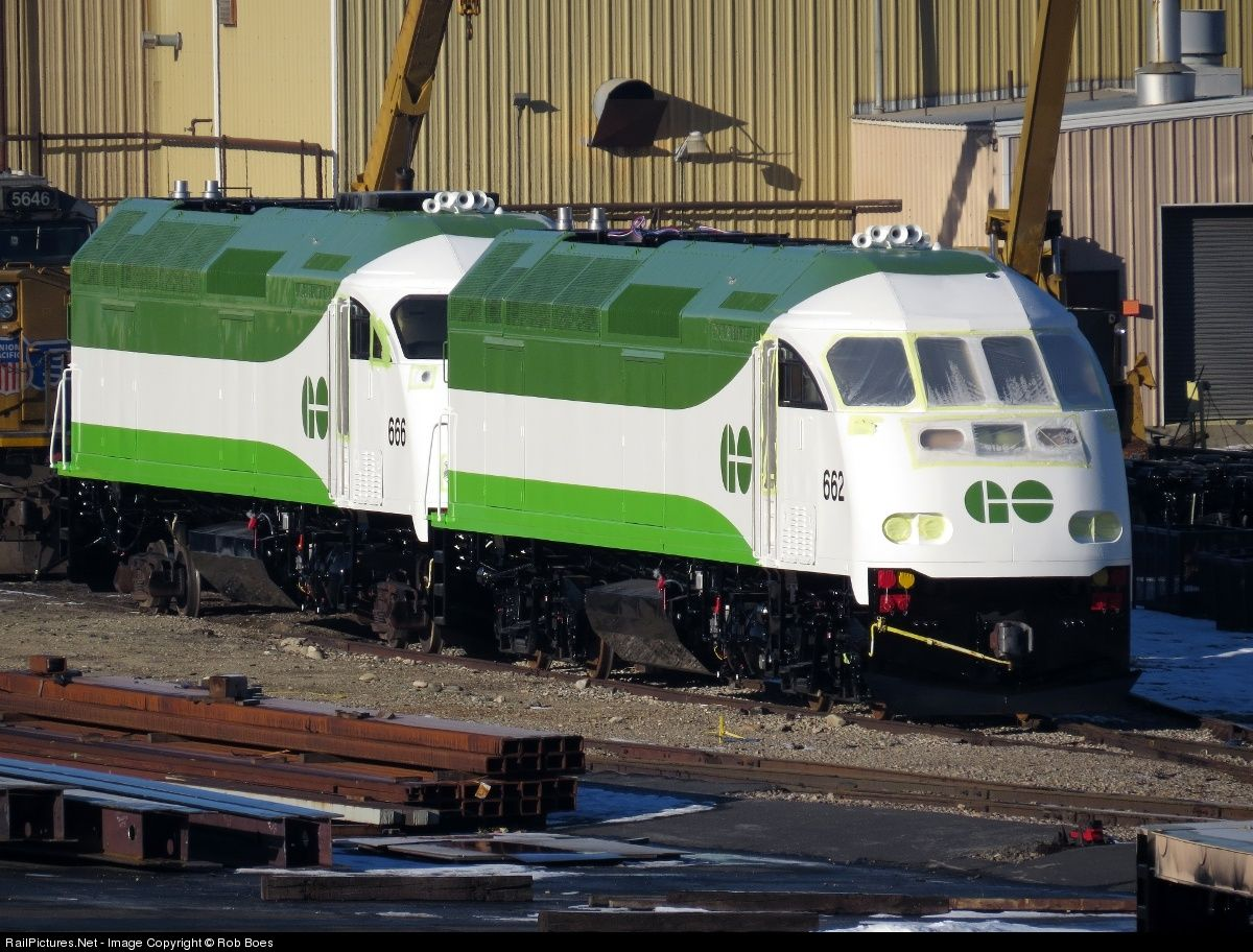 Railpictures Net Photo Go 662 Go Transit Greater Toronto Transit Authority Mpi Mp40ph 3c At Boise Id Go Transit Canadian National Railway Railroad Pictures