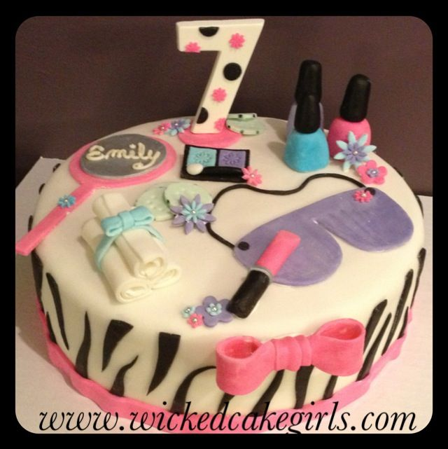 Zebra spa cake by wicked cake girls Find us on Instagram and