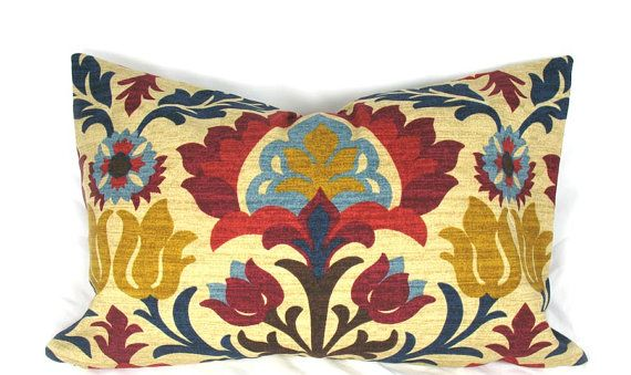 Waverly Multi Color Decorative Pillow Cushion Cover  by kLuxdeco, $32.00