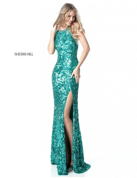 Sherri Hill 51430 Strappy Back Sequin Gown