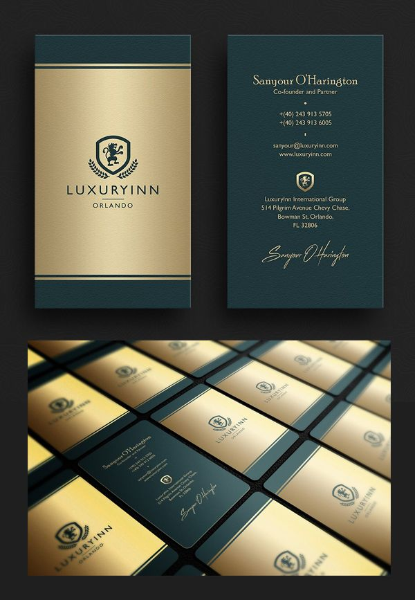 Elegant green gold business card businesscard psdtemplate elegant green gold business card businesscard psdtemplate visitingcard printready elegantdesign reheart Gallery