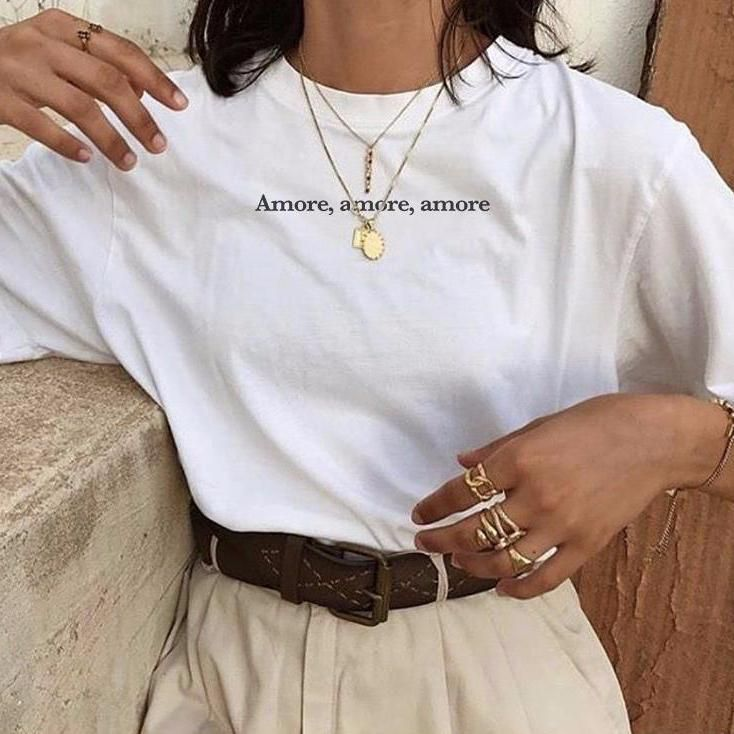 """Jewelry Accessories - """"Amore"""" T-Shirt  #JewelryAccessories  #accessories #affordablejewelry #amore #diyaccessories"""