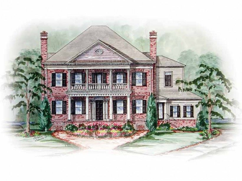 Eplans House Plan: A classic Colonial exterior and contemporary amenity-filled interior combine to create an extraordinary home.  The large grand room opens to the keeping room and kitchen making for an ideal space for entert