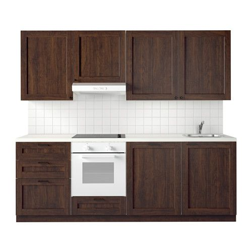 METOD Küche - Edserum Holzeffekt braun - IKEA