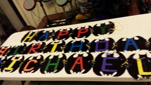 Diy happy birthday sign batman