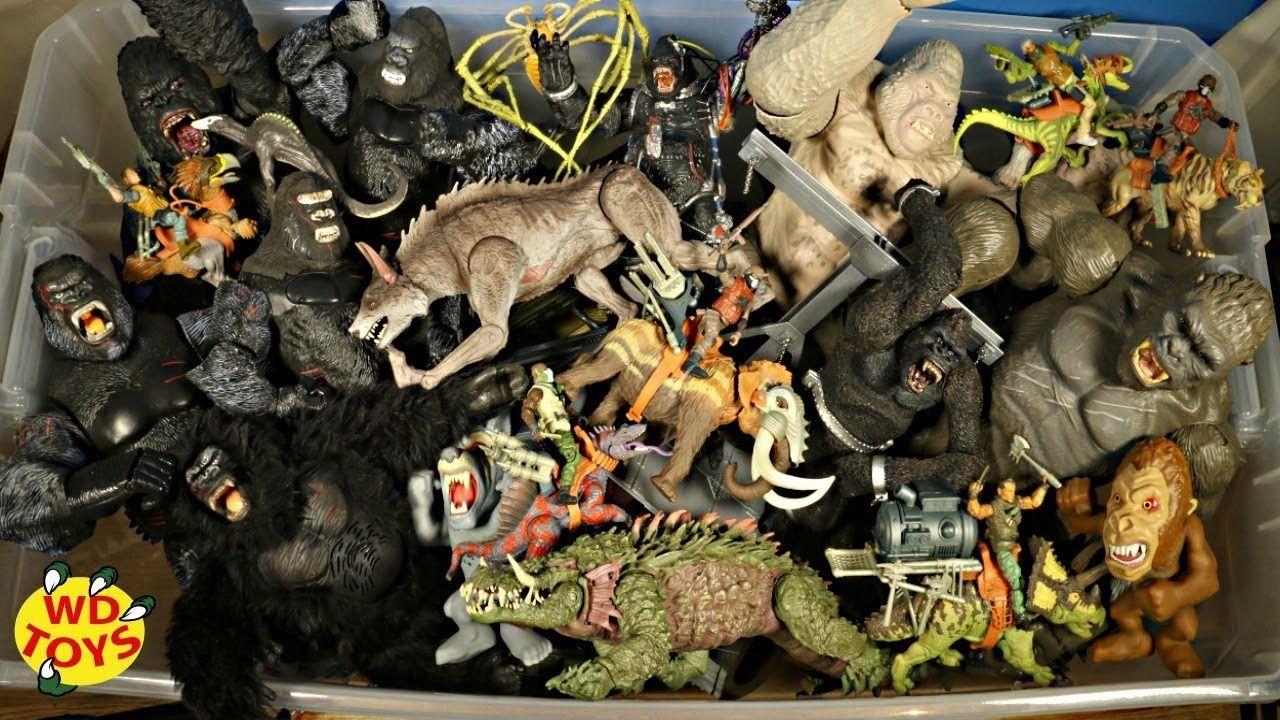 New Huge Box Rampage King Kong Vs Skull Island Movie Toys Lanard