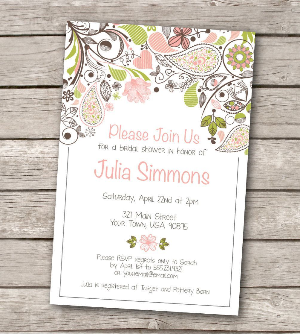 Nice [ Wedding Shower Invitations Invitations Template Cards Invitations 2 ]    Best Free Home Design Idea U0026 Inspiration Regarding Free Bridal Shower Invitation Templates For Word