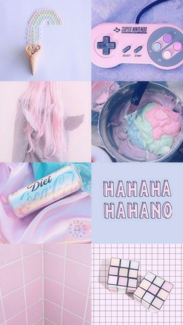 Unicorn Mood Aesthetic Mood Moodboard Unicorn Pink Holographic Pastel Aesthetic Aesthetic Collage Iphone Wallpaper