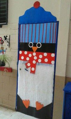 Puertasiii decoraci n de clase pinterest puerta for Puertas decoradas navidad colegio