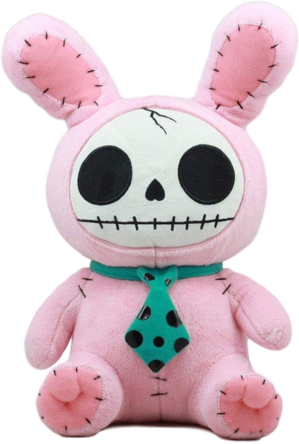 • The Pink Bunny Furry Bones Plush Doll measures 12