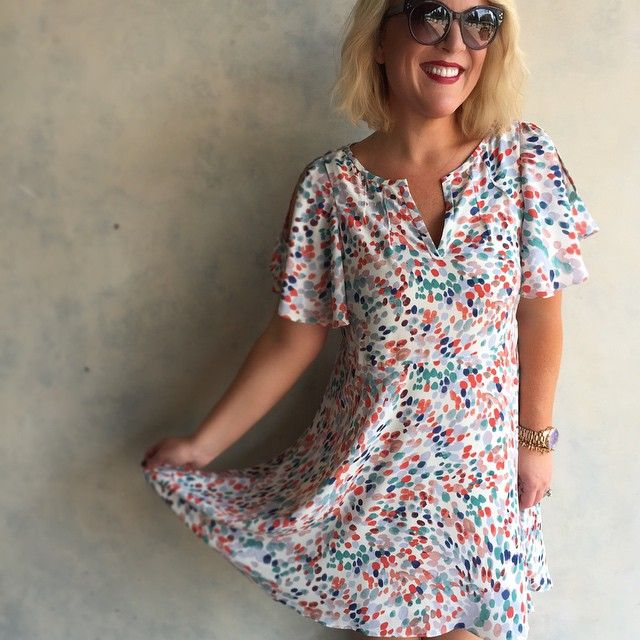 Anthropologie Women/'s Fluttered Watercolor Dress Sizes XSmall Small