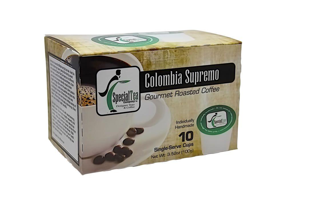 Colombia Supremo, Single Serve Arabica Coffee Cups (10