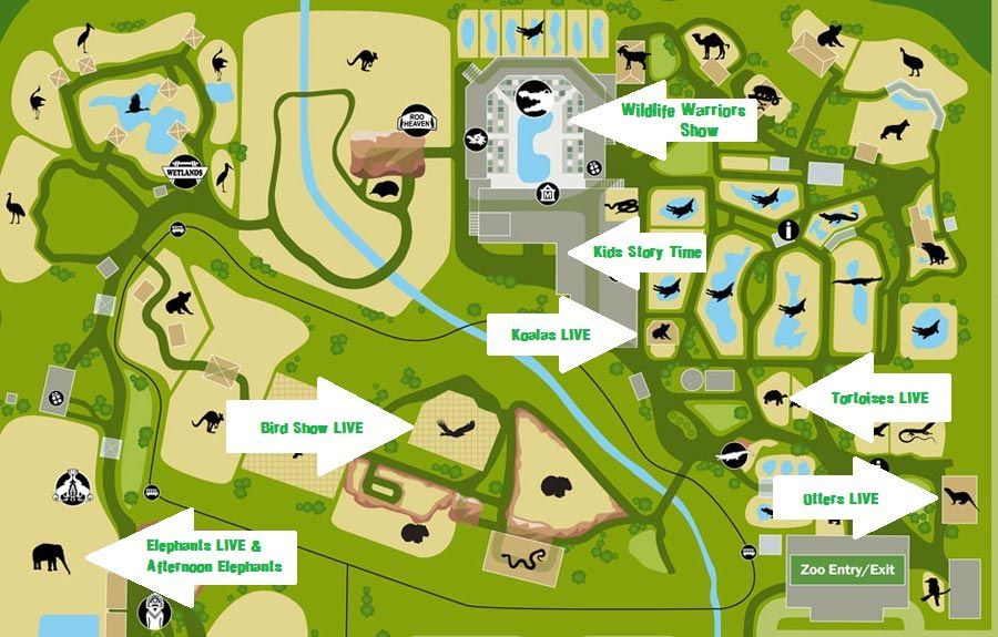 Australia Zoo Map – Show Map of Australia