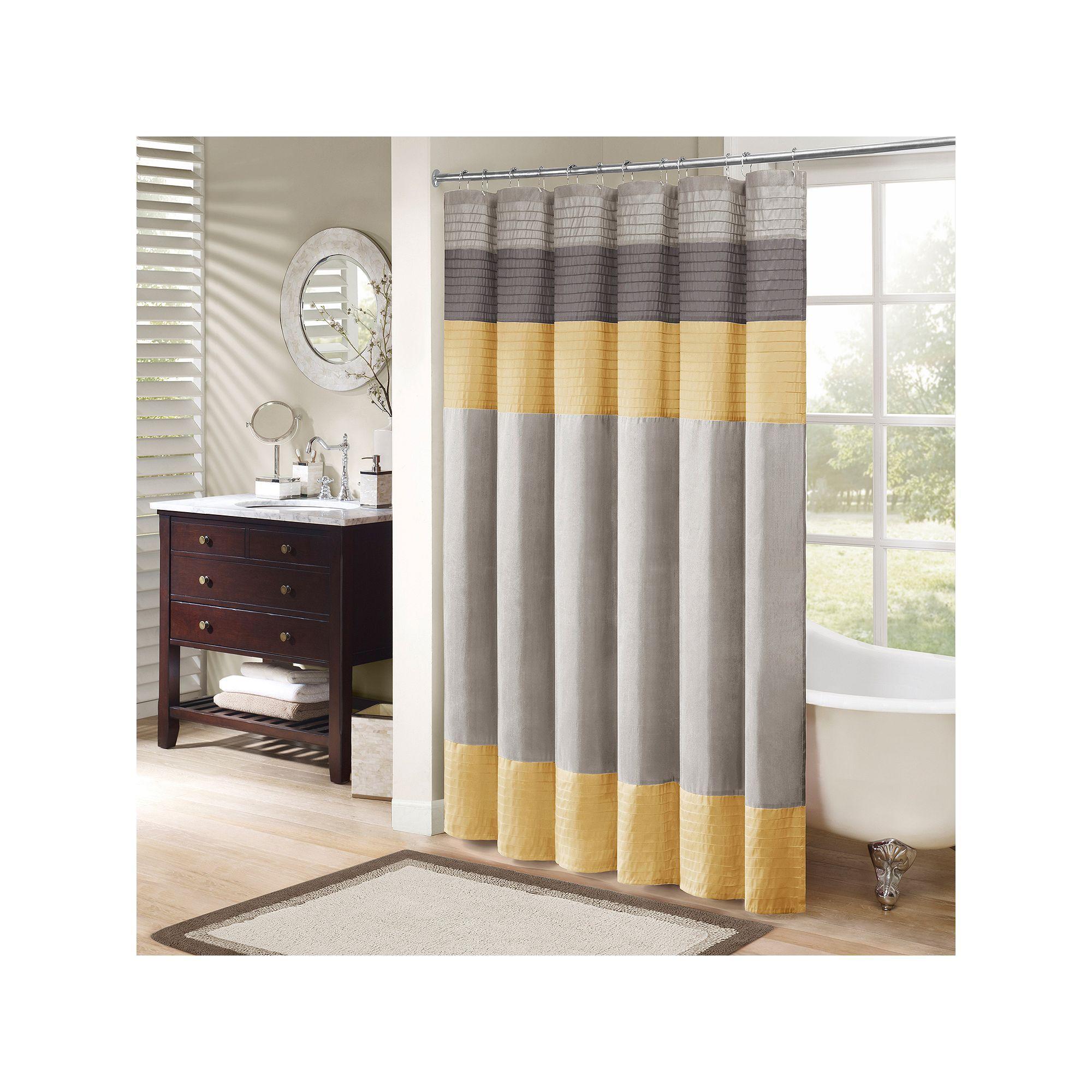 Madison Park Eastridge Shower Curtain Yellow