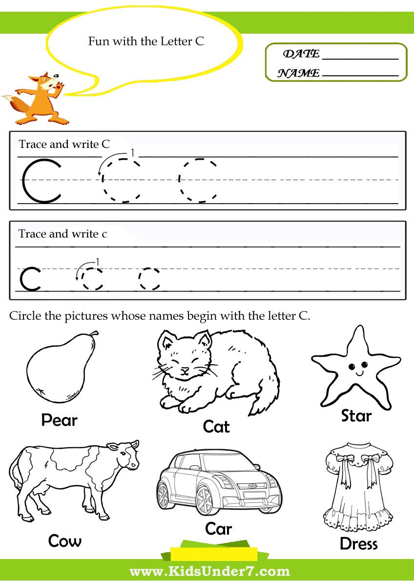 Workbooks letter a printable worksheets : letter c worksheets for preschool - Google Search | Letter/sound ...