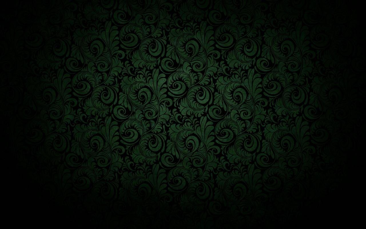 "Dark Green Wallpaper Hd: ""Dark Black Curved Bloom Green Wallpaper"""