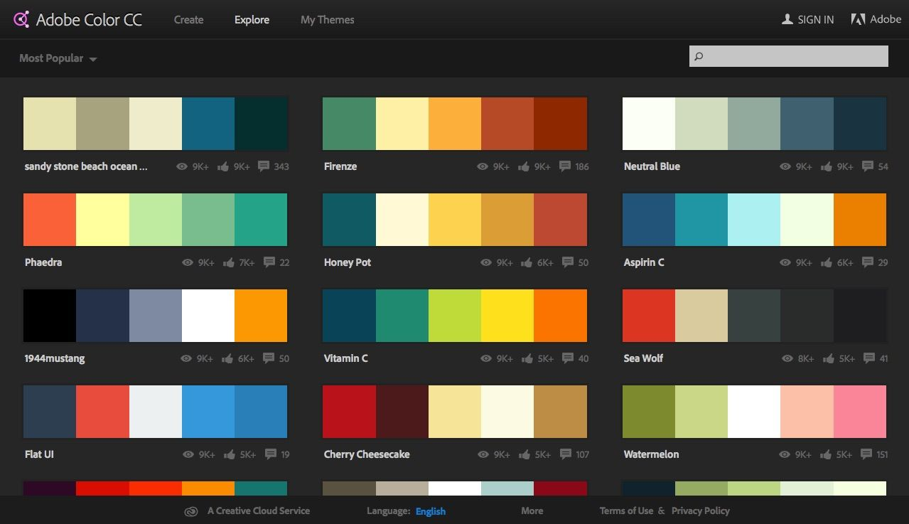 Adobe Color CC Your Scheme Assistant