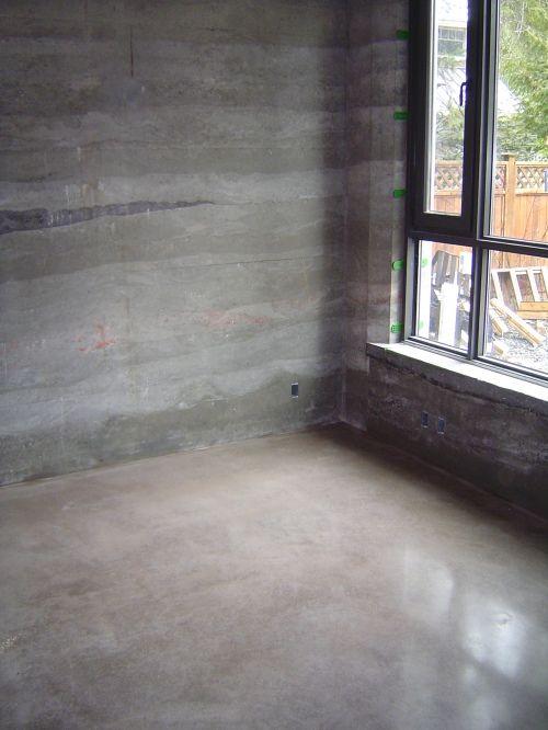 Bedroom Polished Floors Polish Floor Concrete Floors Rammed Earth Homes