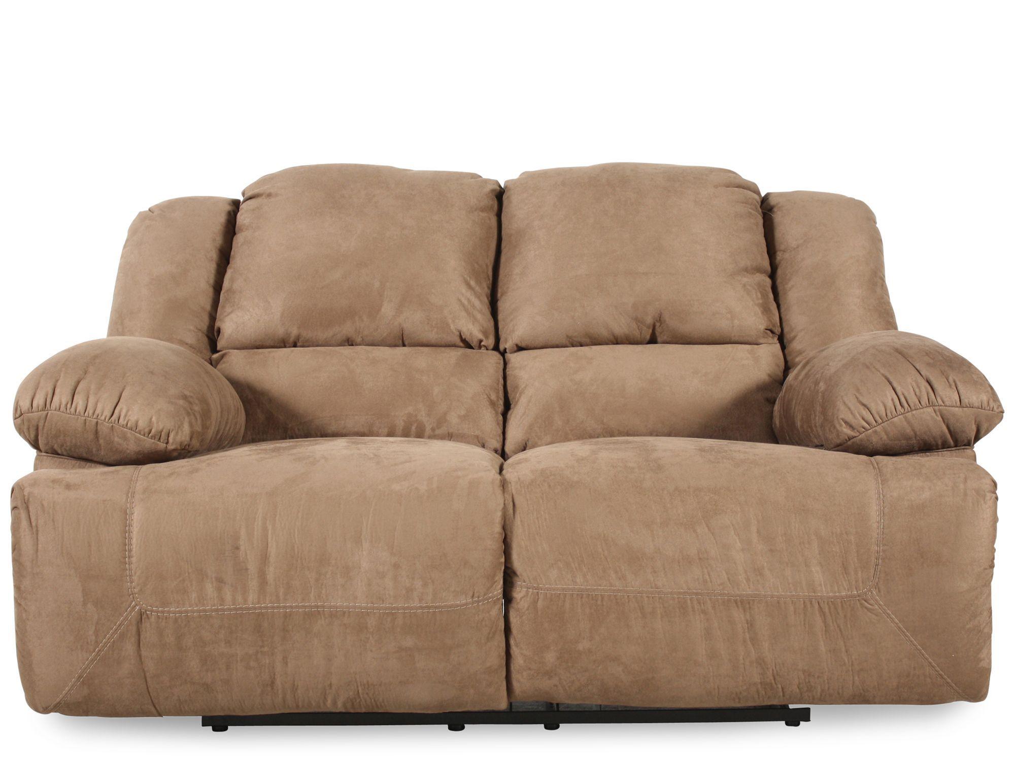 Ashley Hogan Mocha Reclining Loveseat Love Seat Furniture