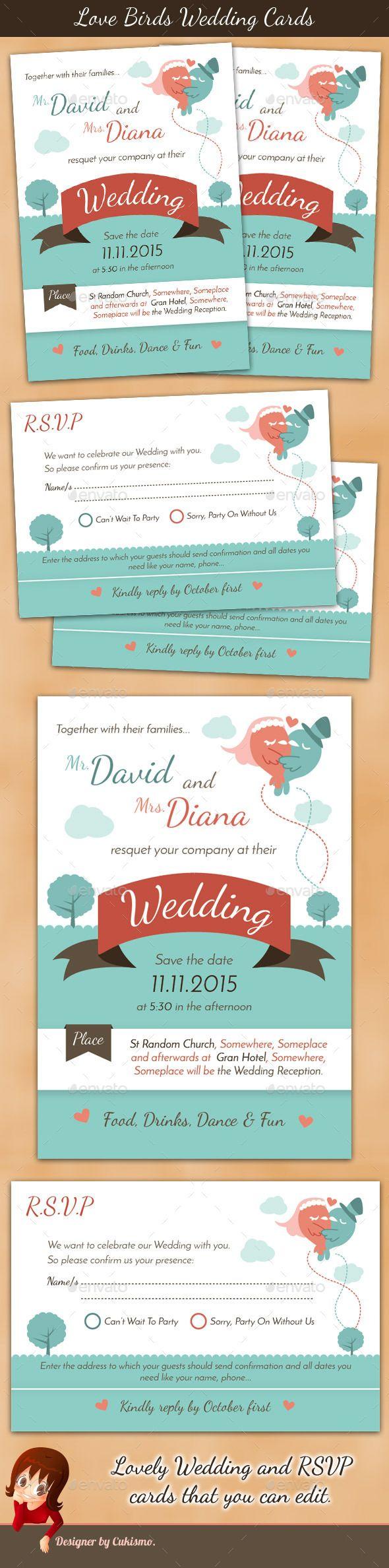 Love Birds Wedding Cards Wedding Card