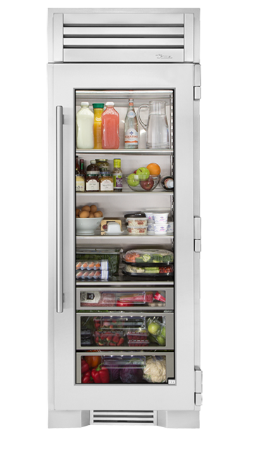 True Residential 30 Glass Door Refrigerator Column Home