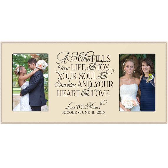 Personalized Mom Wedding Giftmom Thank You Gift Momwedding Frame Parent