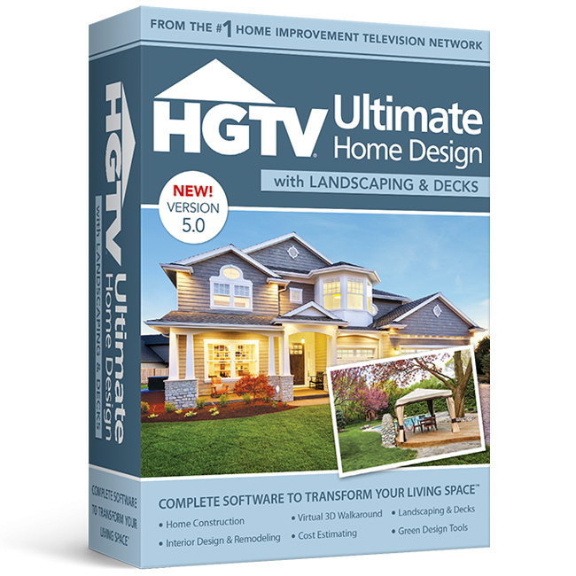 HGTV Ultimate Home Design With Landscaping U0026 Decks V5 Home Design Software  Download | Purch Marketplace
