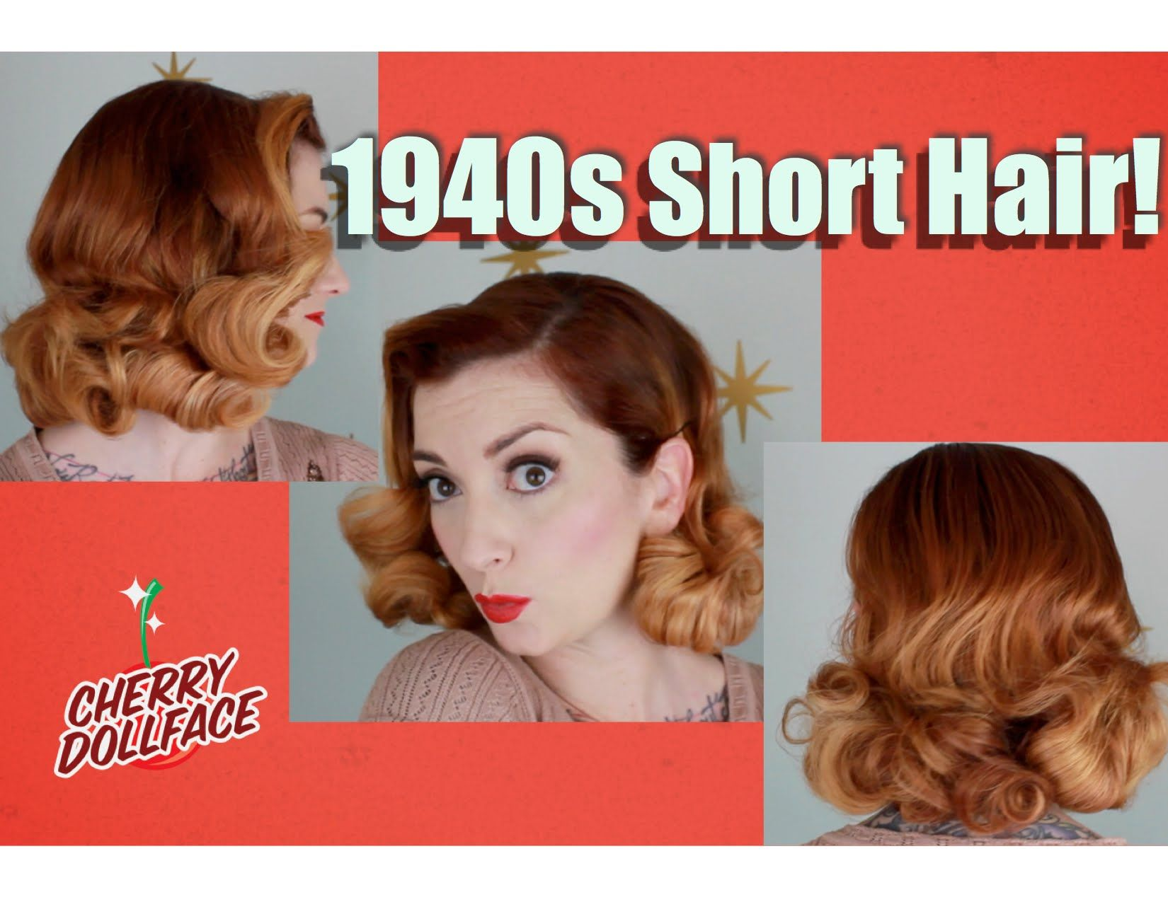 1940s Short Hair Vintage Pillow Roller Wet Set By Cherry Dollface 1940s Hairstyles Vintage Hairstyles Retro Hairstyles