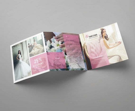 Square Trifold Photography Brochure Template by TemplateStock - wedding brochure template