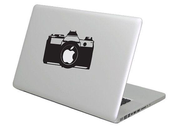 Dslr Camera Macbook Decal Sticker Fits All Sizes Laptop Etsy Macbook Decal Stickers Macbook Decal Macbook Vinyl Stickers