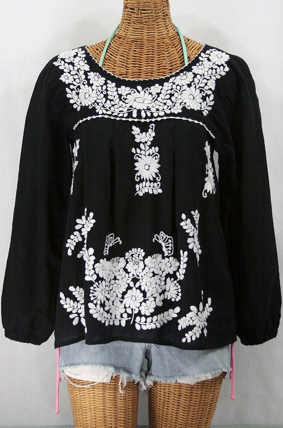 Emroidered Mexican wrap Top