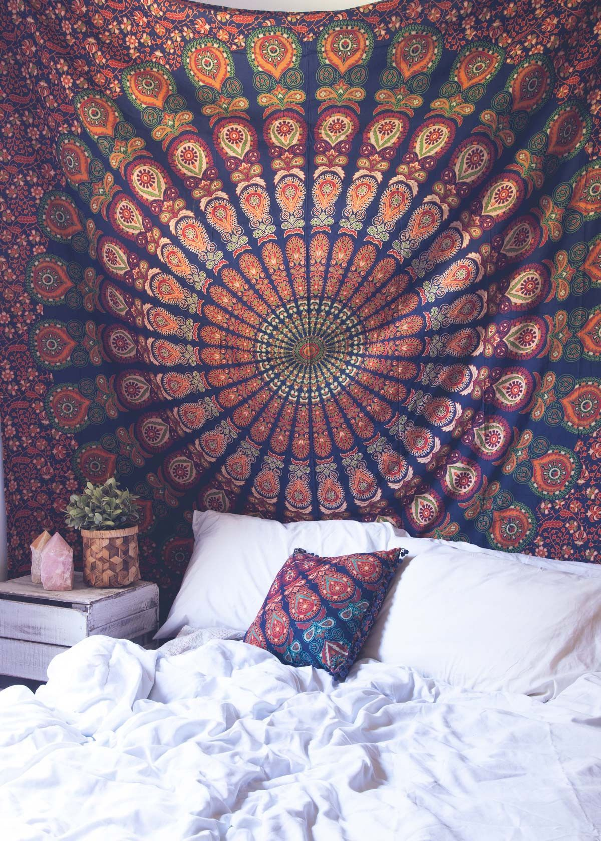 Top Off Your Bed Or Accent A Wall With This Unique Boho Tapestry