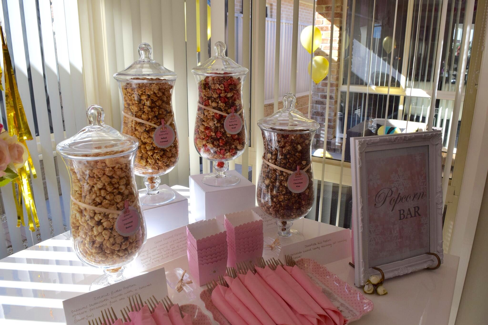 A Great Sweet Addition To A Baby Shower A Popcorn Bar My Baby