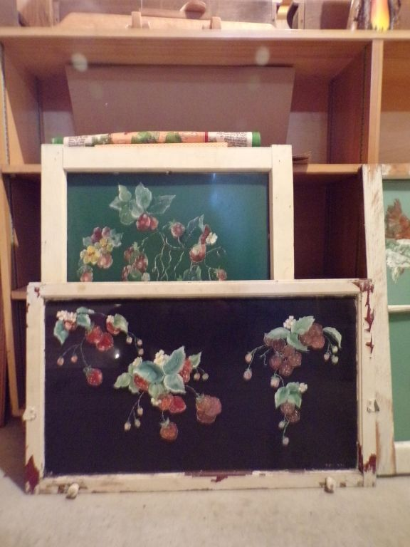 Painted Cabinet Doors W Strawberry Raspberry Brown Online