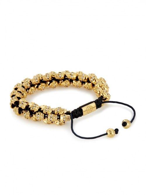 Swarm Bracelet In Gold Swarovski Crystal For Men