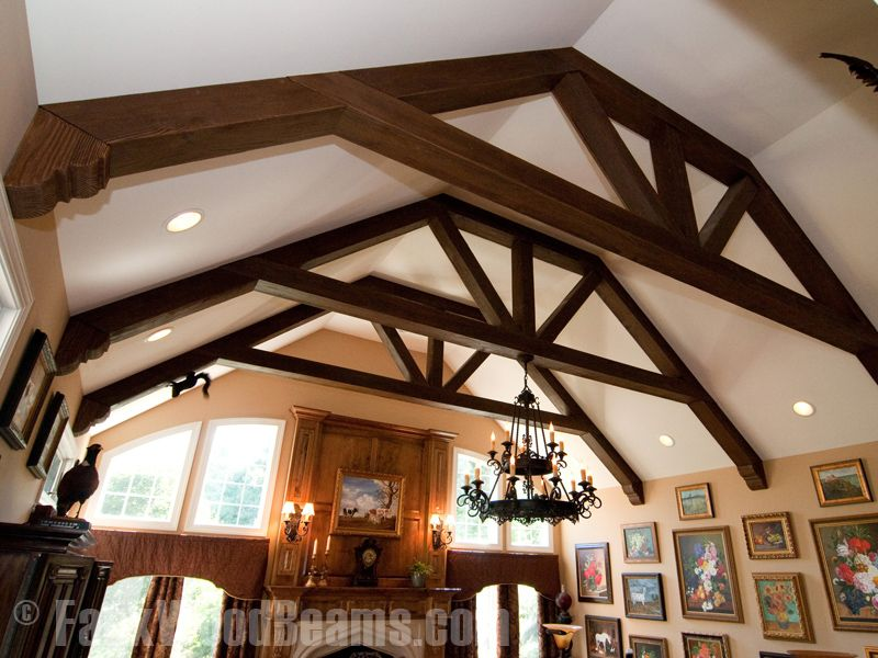 ceiling support beam ideas - Beautiful Faux Ceiling Beams Ideas