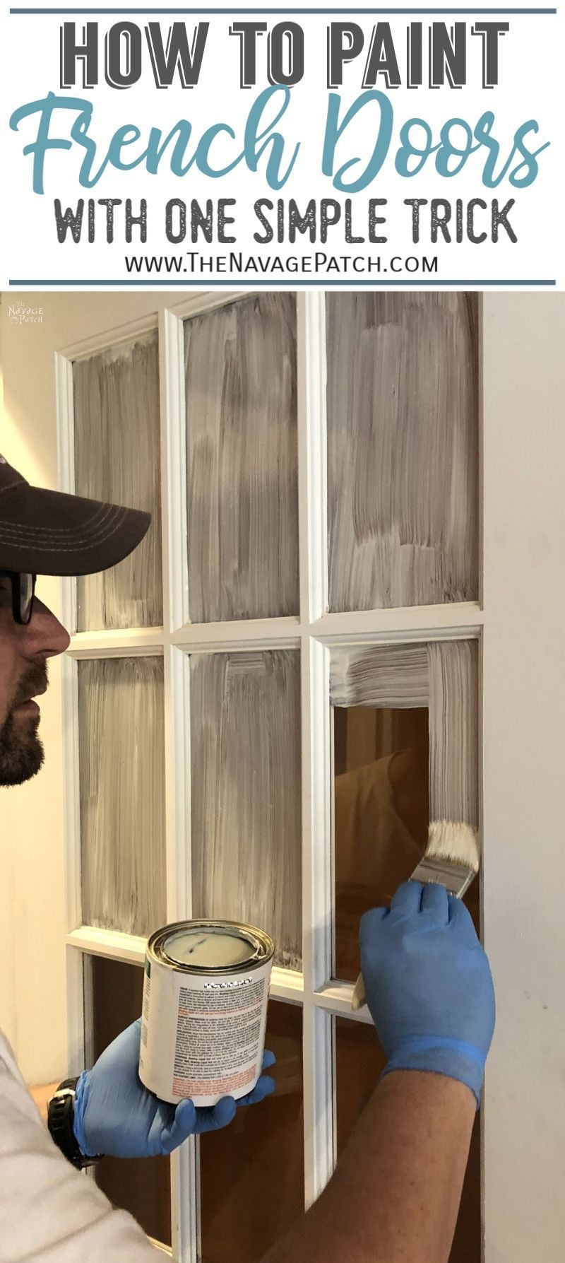 How To Paint French Doors The Easy Way Diy Home Repair Home Diy Diy Home Improvement